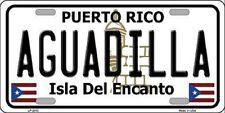 AGUADILLA Puerto Rico State Background Novelty Metal License Plate