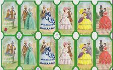 1 Bogen Glanzbilder Poesie Scraps romantische Paare Kleider MLP 1566 Nr.224