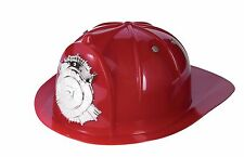 Kids Red Fireman's Hat Firefighter Fire Captain Helmet Child Size Helmet
