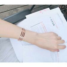 Korean Style Women Geometric Bracelet Gold Plated Bangle Open Cuff Adjustable