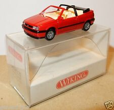 MICRO WIKING HO 1/87 VW VOLKSWAGEN GOLF CABRIOLET ROUGE BOX A