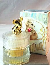 Vintage Avon Sweet Honesty Tree Mouse Glass Vanity Jar .66 oz New Old Stock