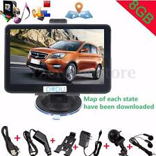 "5"" 8GB Truck Car GPS Navigation Navigator System Lorry SAT NAV FM Touch Screen"
