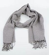 New. ERMENEGILDO ZEGNA Men's Brown Houndstooth Wool Scarf $250