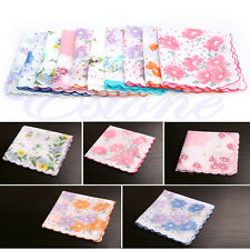 10Pcs/Set Lot Cutter Ladies Vintage Cotton Hanky Floral Handkerchief Hot New