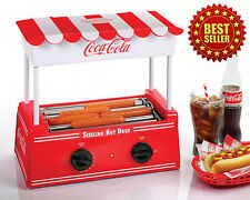 Hot Dog Maker Machine RETRO COKE COCA-COLA Nostalgia Electric Roller Warmer Bun