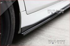 3D STYLE CARBON FIBER SIDE SKIRT EXTENSIONS FOR BMW F10 5 SERIES M TECH 528I 535