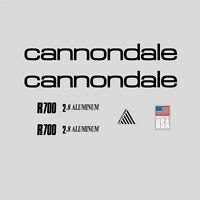 Cannondale R700 Bicycle Frame Stickers - Decals - Transfers: Black. n.2