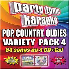 Party Tyme Karaoke - Variety Pack 4 [4 CD] by Karaoke (CD, 2012, 4 Discs,...