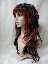 Sexy Black & Red Tempting Tresses Wig Anime Goth EMO Girl Punk Rock Vamp Cosplay