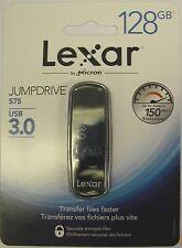 NEW 128gb Lexar USB 3.0 jump drive S75