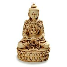 "BUDDHA STATUE 5.5"" White Resin Buddhist Deity Meditating Meditate HIGH QUALITY"