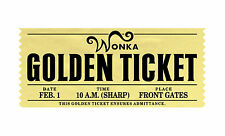 Willy Wonka Choc Factory Golden Ticket Typography Decorative Vinyl Wall Sticker