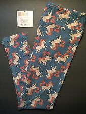 NEW LuLaRoe TC Actual Unicorn Leggings Blue Pink White Horse MAJOR UNICORN
