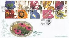 (94595) GB Benham FDC D290 Greetings Orchids Blooms Bressingham 6 Jan 1997