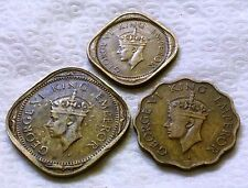 KGVI 1/2,1,2,ANNA 1943 SET OF 3 COINS YEAR WISE NICE UNCLEAN GRADE RARE SET
