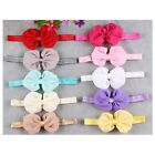 "4"" New Style Chiffon Boutique Puffy Hair Bows Baby Girls Bow Hair Headband"