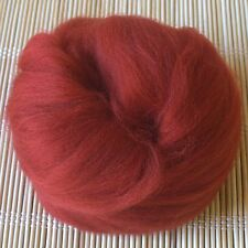 100g Merino Wool Tops 64's Dyed Fibres - Tan - Felt Making and Spinning