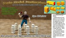 Milk Containers/Cans (8pcs) Scale Model Masterpieces HOn3/1;87 *NEW*