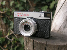 Smena-8M 35mm camera with case, LOMO, lomography, USSR