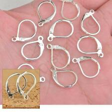 DIY Jewelry Earring Findings Leverback Round French Silver Earwire Hook 100PCS