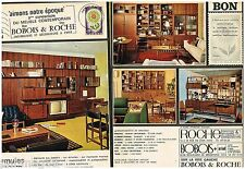 Publicité Advertising 1965 (2 pages) Meubles  Mobilier Roche Bobois