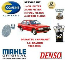 FOR DAIHATSU CHARMANT 1.6 1982-1986 OIL AIR FUEL FILTER + SPARK PLUGS SERVICE