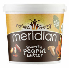 Meridian Smooth Peanut Butter No Salt 1000g 100% Nuts + No Palm Oil