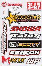 New Rockstar Energy, Yoshimura Motocross Racing stickers/decals. 1 sheet (st20)