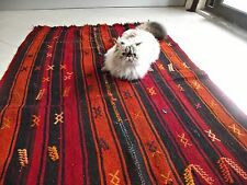 TURKISH Anatolian KILIM ANTIQUE handmade RUG runner carpet 37.5x65 Inch