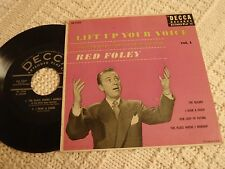 RED FOLEY DECCA EP 2184 LIFT UP YOUR VOICE  I HEAR A CHOIR/THE ROSARY &2