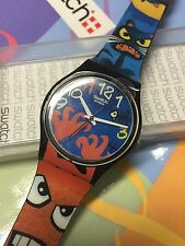 VINTAGE Swatch GENT GB230 Bizar World  2006 New In Box Kids Artist