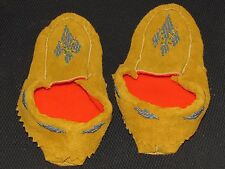 NATIVE AMERICAN BEADED MOCCASINS 9 1/2 INCHES LONG LUMINOUS BEADS VAMP & ANKLE