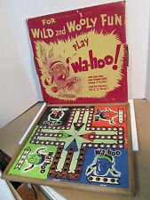 Vintage 50s Wa-Hoo Wahoo Game with RARE Monotone Box Zondine Game L.A.