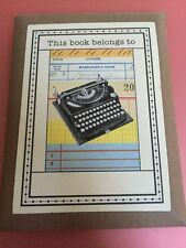 Cavallini & Co. Typewriter Ex Libris Bookplate Set Free Shipping 18 pack