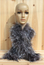 On Sale Real Silver Fox Fur Hand Knitting Long Scarfs Scarves Free Shipping