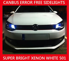 VW POLO 9N3 2005-2009 501 T10 ERROR FREE LED SIDELIGHT BULBS