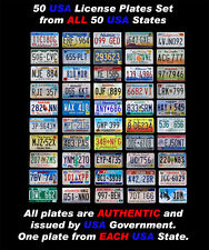 50 UNITED STATES LICENSE PLATES SET NUMBER TAG USA BEST LOT VALUE ART DECORATION