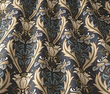 ILiv ART DECO Acanto Blu Navy (William Morris stile) per tende/tappezzeria stoffa