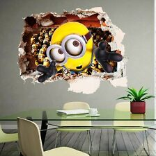 3D Minion DESPICABLE ME Wall Sticker Decal Art Kids Nursery Paper Mural Decor