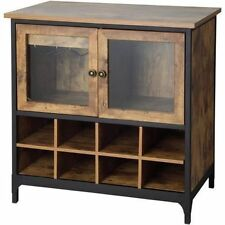 Wine Cabinet Dry Bar Rustic Storage Bottle Glass Holder Liquor Rack Furniture