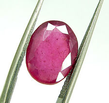 3.70 Ct Certified Beautiful Natural Ruby Loose Oval Gemstone Stone eBay - 112723