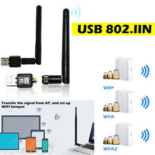 New 802.11n 150M USB WIFI Wireless LAN Adapter w/ Long Range 20dBm 2dBi Antenna