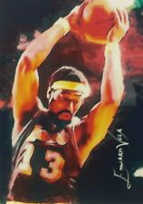WILT CHAMBERLAIN LAKERS NBA SKETCH CARD SIGNED LTD #22/25 VELA ART SOLD OUT AUTO