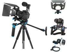 Movie ComStar K1 Video Rig + Follow Focus + Matte Box Kit For Camera Camcorder