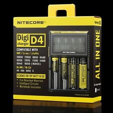 Nitecore D4 LCD Intelligent Circuitry Global Insurance 18650 16340 26650 Charger
