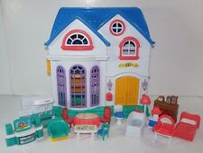 2010 Keenway Doll House with Furniture Fireplace Bedroom Living Kitchen Bathroom