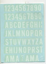 vtg impko water decal numbers letters hot rod drag race motorcycle alphabet