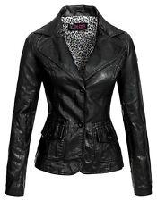 Be Cool Damen Kunstlederjacke BC-257A schwarz S Damenjacke Übergangsjacke Jacke