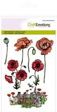 Craft Emotions Clear Rubber Stamps A6 Poppies - Flowers Nature (7pcs)